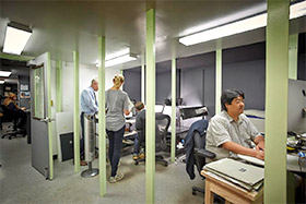 photo of Frick Collection staff in digital imaging lab